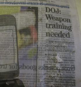 Photo of wet newspaper
