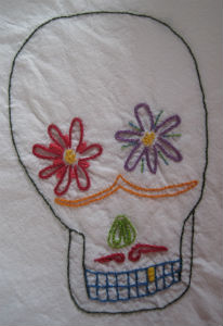 Embroidered Trial Skull