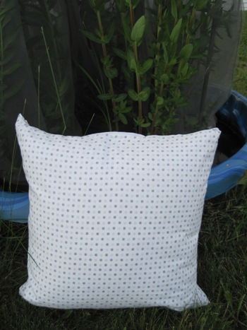 Photo of zippered pillow case